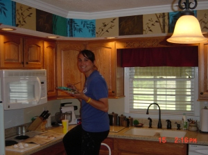 Laura Reeves. Kitchen Mural. Copyright 2012 Linda Andersen.