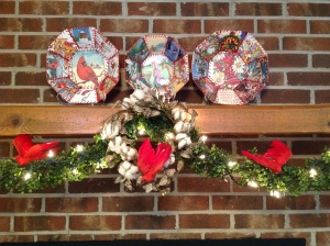 Cotton wreath in my Christmas garland in 2016. Copyright by Linda Martin Andersen
