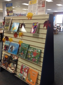 Books facing out at the public library. Copyright 2015 Linda Martin Andersen