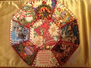 Christmas Card Bowls. Copyright 2015. Linda Martin Andersen