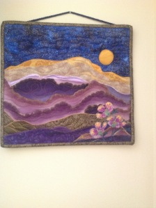 Moon Over Mountain Art Quilt by Maureen Wartski. Copyright 2016. Linda Martin Andersen