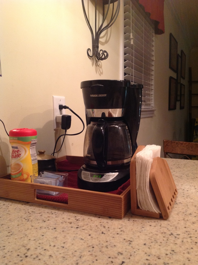 Bamboo Coffee Station. Copyright 2016. Linda Martin Andersen.